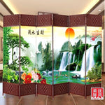 Screen Room Divider Folding Bamboo Frame 4 to 6 Leaf Privacy Screen Beautiful 屏风