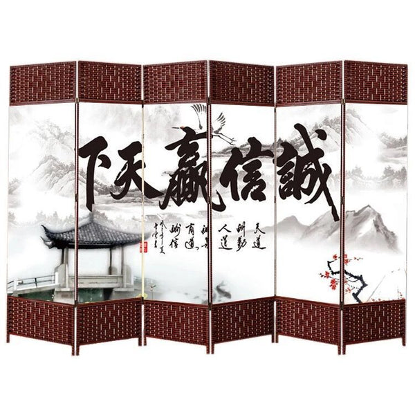 Screen Room Divider Folding Bamboo Frame 4 to 6 Leaf Privacy Screen ...