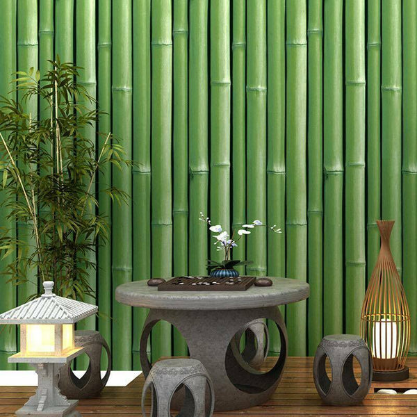 1 Roll 3D Bamboo Wallpaper Roll 10m x 0.53m Oriental Style Home Cafe Restaurant