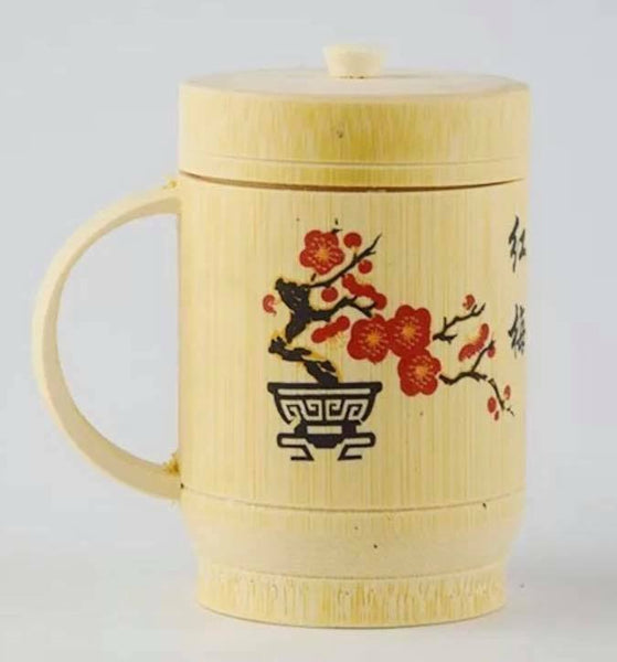 1 x Bamboo Cup Handcrafted Creative Cup Mug Natural Environmentally Friendly