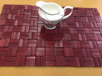 Bamboo Placemat brick style Natural durable beautiful elegant hot isolation 竹餐垫