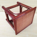 Bamboo Stool Handwoven Handmade Traditional Coffee Tea Dining Stool Artwork