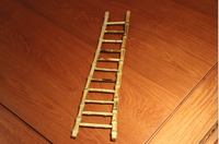 Natural Bamboo creative handmade ladder model toy children home decoration