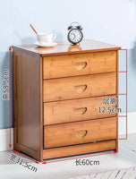 Solid Bamboo Modern Drawer Chest Cabinet Table Bedroom Storage Choice Elegant