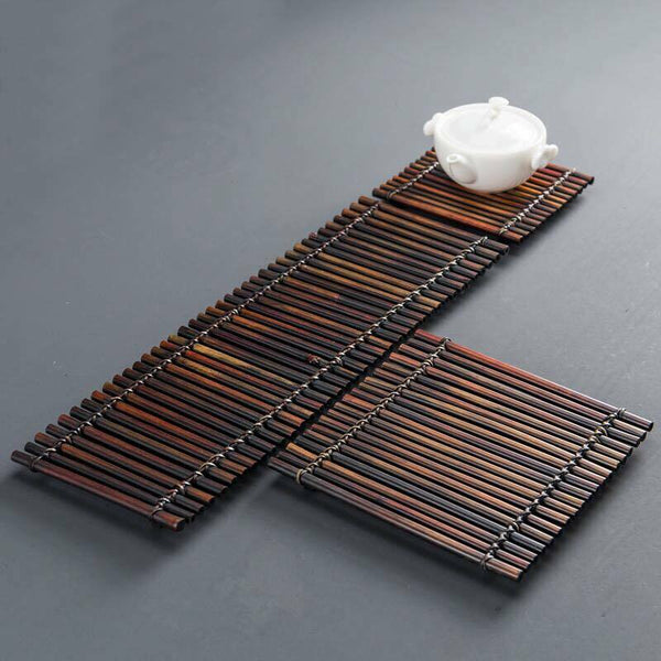Coaster Placemat Bamboo Handcrafted Handmade Tea Coffee Cup Serving Tray Coaster