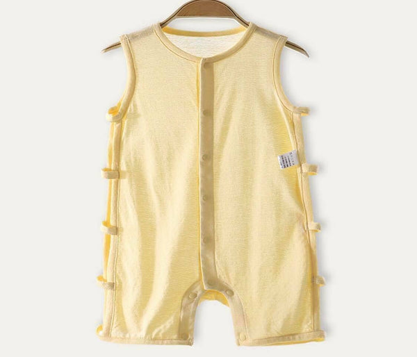 Bamboo Fiber Babysuit One Piece Jumpsuit Sleepwear Comfortable Breathable Soft