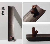 1 x Natural Bamboo Incense Stick Holder Handcrafted Handmade Carved Home Decor