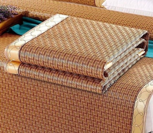 Queen or King Cool Summer Mat Sheet +2 pillow cases Soft Rattan Rug 软藤夏季凉席加 2枕套