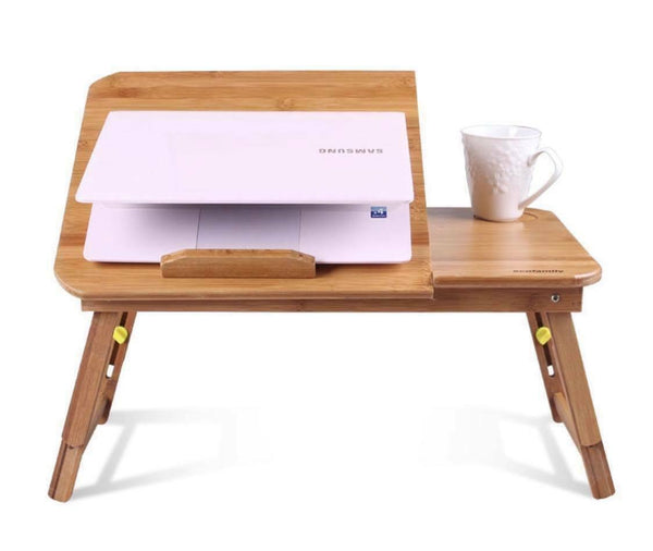 Stand portable en bois de bambou pliable de support de plaque de table réglable pliable