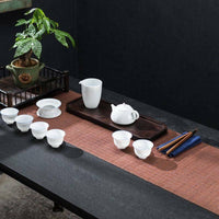 Oriental Bamboo Tea Ceremony Coffee Mat Zen Table Runner Placemat Coaster