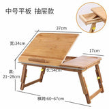 Bamboo Wooden Laptop Stand Foldable Adjustable Table Plate Holder Rack