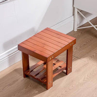 bamboo wooden stool rest stool fishing stool rectangular strong vase base 竹凳