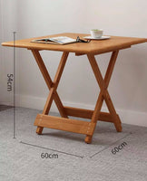 Bamboo Wooden Table Square Or Round Foldable Dining Study Picnic In or Outdoor竹桌
