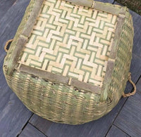 Bamboo Handwoven Handmade Large Round Basket With Handle