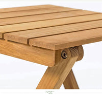 Solid Wooden Square Foldable Table Dining Study Balcony Indoor Outdoor 折叠小方桌