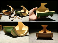 Bamboo Holder Handmade Handcrafted Fruit Snack Holder Organizer Artwork