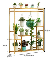 BAMBOO WOODEN SHELF PLANT STAND MULTI TIER IRREGULAR LADDER STORAGE MULTI USE