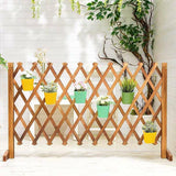 Plant Holder Plant Organiser Wooden Foldable Rack Space Saving Balcony Divider