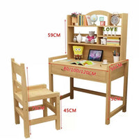 Wooden Table&Chair Set Children Kids Studying Table & Chair Set Healthy Solid