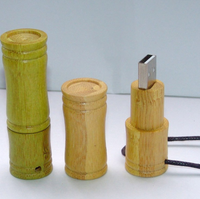Bamboo USB 3.0 creative design with bamboo lid natutal shaped sizes 4GB - 64GB