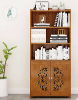 Bamboo Book Case Book Shelf Antique Elegant Style Multi-Function storage 中式落地书柜