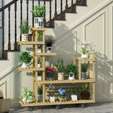 Wooden Plant Stand Garden Patio Balcony Indoor Outdoor Pot Stand Home Decoration