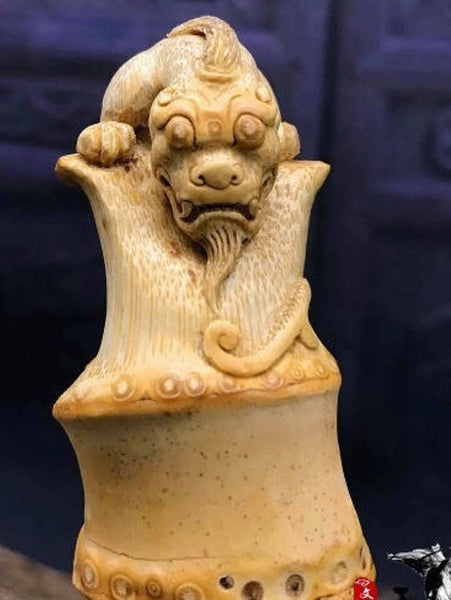 Bamboo Root 100% Hand Carved Handcrafted Artwork Collectible Home Decoration竹根雕刻