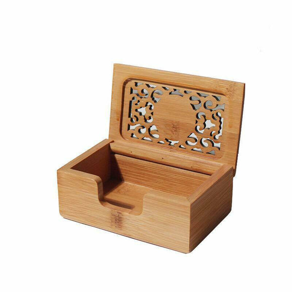 Cards Holder Bamboo Hand Carved Business Card Holder Case Office Business
