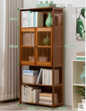 Bamboo Antique Style Book Case Cabinet Book Shelf Elegant
