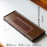 Premium Bamboo Tea Tray Gongfu Tea Coffee Serving Tray Handmade