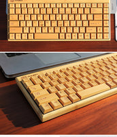 Bamboo Wooden Wireless Keyboard Ultrathin Multimedia Healthy Eco Friendly