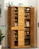 Bamboo Wooden Shoe Case Shoe Rack Book Case Shelf Storage Classic Luxury Simple