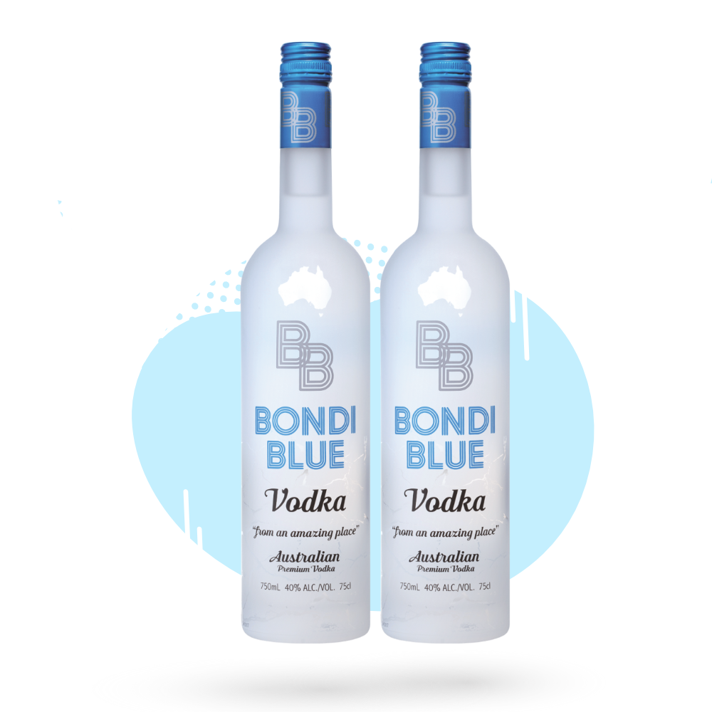 Bondi Blue Vodka Twin Pack