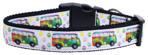 Nylon Specialty Collar - Peace Bus (Limited Sizes)