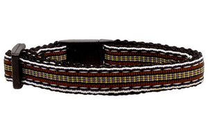 Preppy Stripes Nylon Ribbon  Cat Safety Collars - Four Legs Boutique