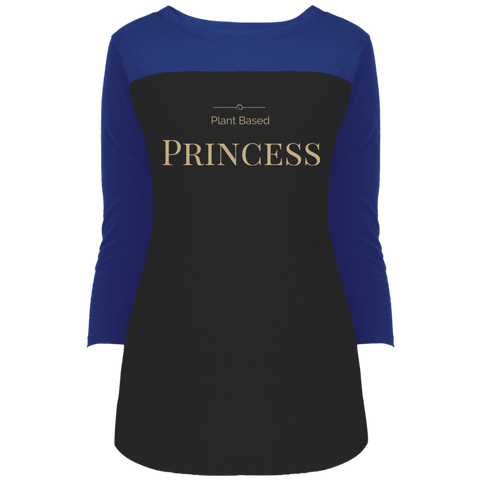"""Plant Based Princess"" Women's 3/4 Sleeve T-Shirt"