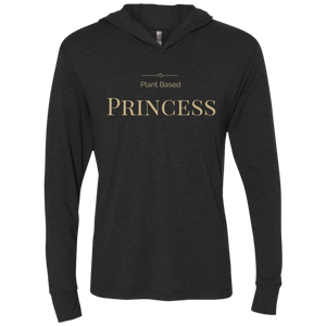 """Plant Based Princess"" Women's Hooded Long Sleeve Shirt"