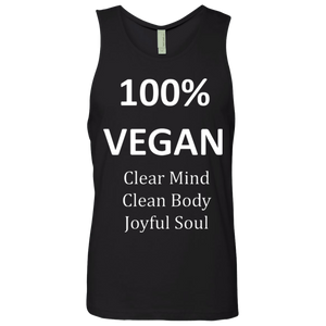 """100% Vegan""  Men's Cotton Tank"