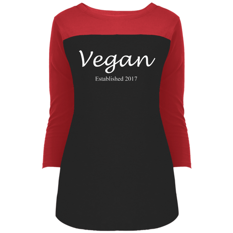 """Established Vegan"" Women's 3/4 Sleeve T-Shirt"