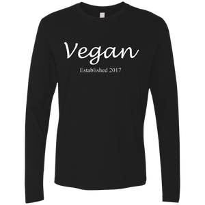 """Established Vegan"" Men's Premium Long Sleeve Shirt"