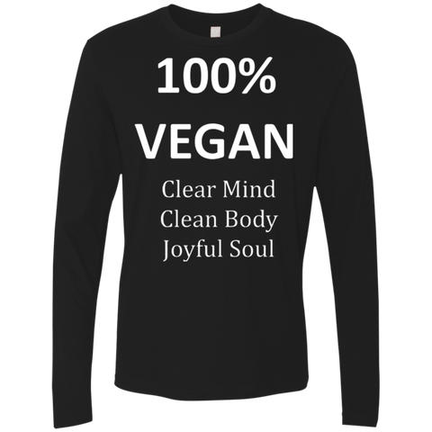 """100% Vegan"" Men's Premium Long Sleeve Shirt"