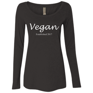 """Established Vegan"" Women's Long Sleeve Scoop"
