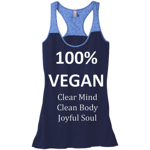 """100% Vegan"" Women's Junior Varsity Tank"