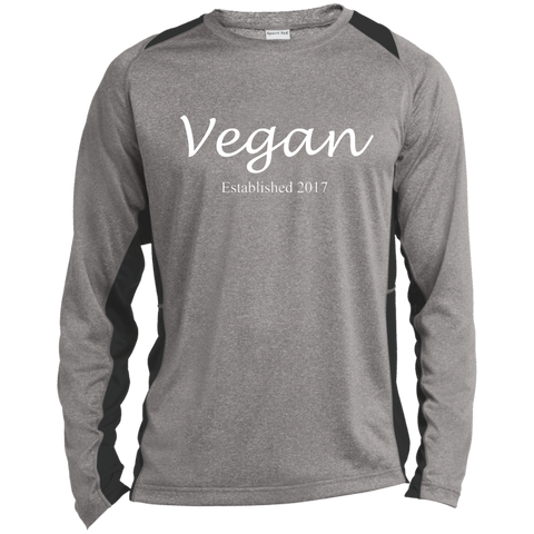 """Established Vegan"" Men's Color-Block Poly Long Sleeve Shirt"