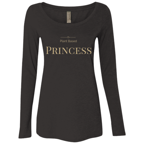 """Plant Based Princess"" Women's Long Sleeve Scoop"