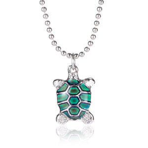 Newest power necklace women animal tortoise turtle mood necklace newest power necklace women animal tortoise turtle mood necklace pendant with bead chain temperature change color mozeypictures Image collections