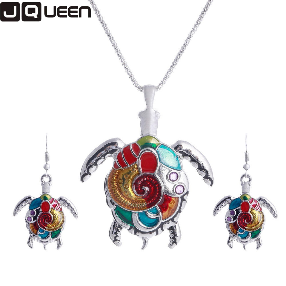 enamel turtle jewelry sets for women gold color turtle animal