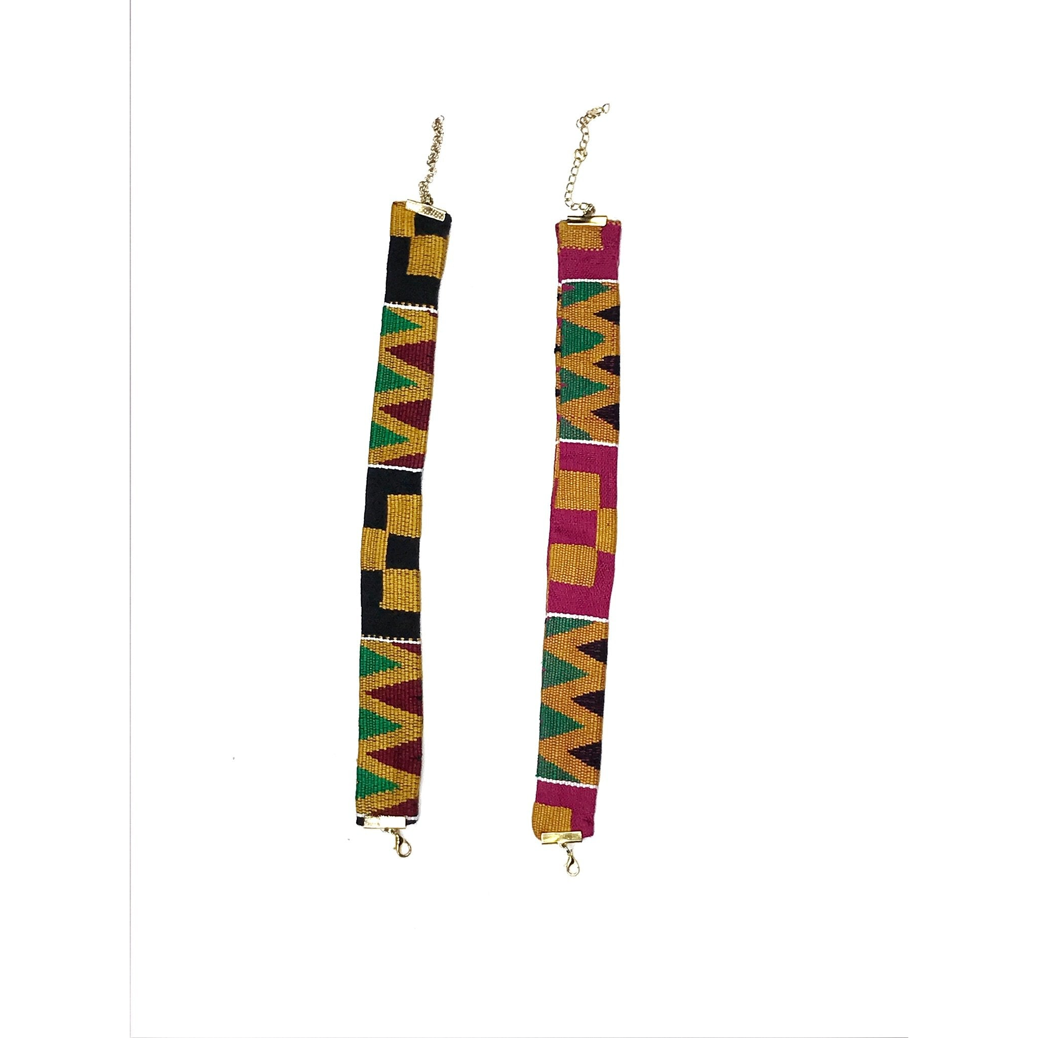 The Kente Cloth used in this design is called Amanfo. Made with Authentic Kente Cloth, each item is made with love + heritage.