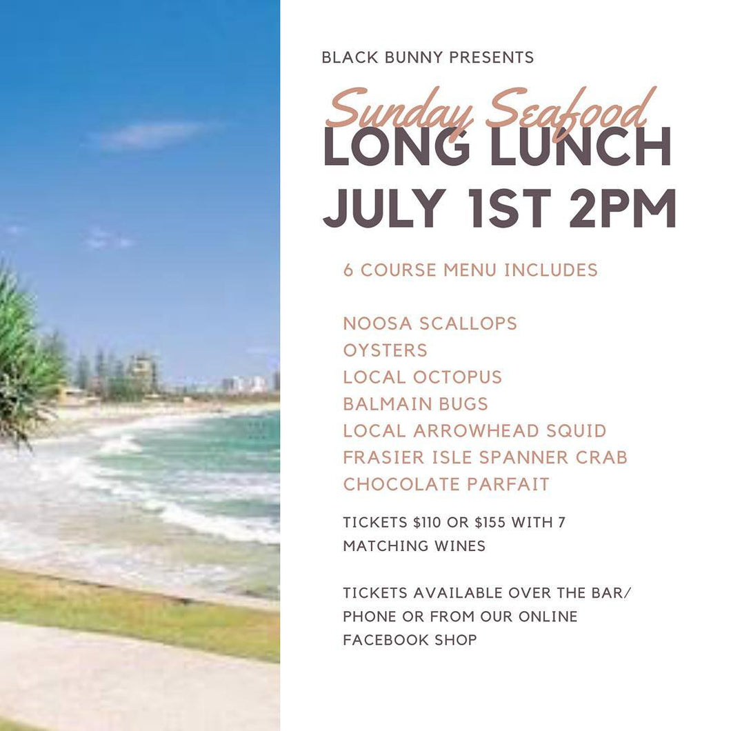 Copy of Seafood Long Lunch Ticket (Includes wine match)