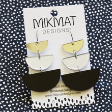 Load image into Gallery viewer, Moon Phases Drop Earrings Black - Mikmat Designs